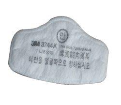 @安全防護@ 3M 3744K P2 活性碳濾棉10片/包 需搭配3M 3200 防毒面具跟3M 3700濾棉固定盒使用