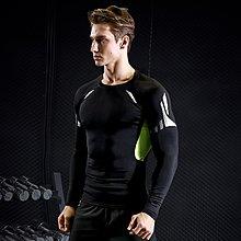 L02049 COMPRESS 壓縮科技 長袖 圓領  高彈 無刷毛 萊卡透氣 舒適 速乾 緊身衣 四針六線 焦點服飾