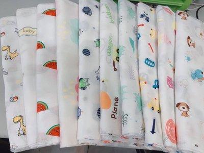 【高密度】西松屋高密度紗布巾 印花小手帕 兒童雙層紗布巾 紗布手帕 雙層口水巾 嬰兒純棉餵奶巾 全棉口水巾 紗布巾