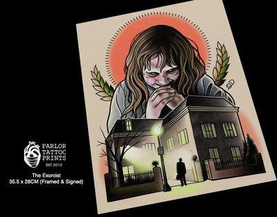 GOODFORIT / 加州Parlor Tattoo The Exorcist大法師刺青畫作/含框