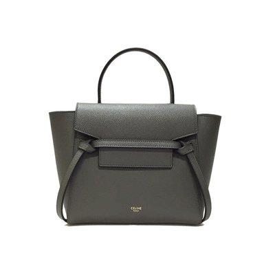 全新正品 CELINE 189003 Nano Belt bag in grained calfskin 灰色