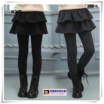 •*~ 辣媽咪衣飾小舖 ~*•❤童裝系列❤P530791韓版大童百搭加絨加厚蛋糕裙褲