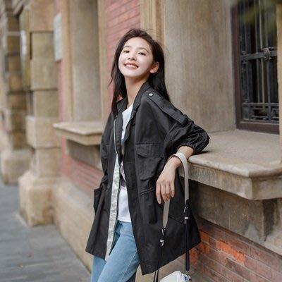 風衣 外套 中長款大衣-純色寬鬆小清新韓版女外套3色73ue7[獨家進口][米蘭精品]
