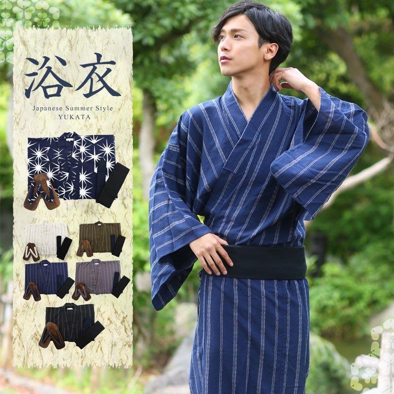【尋寶圖】現貨!日式和服日本傳統男士和服浴衣浴袍 cos 不透光日本單官網同步同款現貨35328