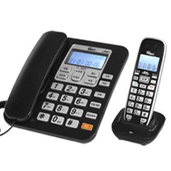 【通訊達人】TC-9600G 羅蜜歐2.4G高頻來電顯示無線親子機_黑色款