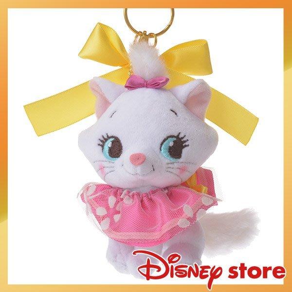 瑪麗貓 絨毛 鑰匙圈 超精緻 迪士尼專賣店限定  日本帶回 小日尼三 批發零售代購 有優惠 現貨免運費不必等