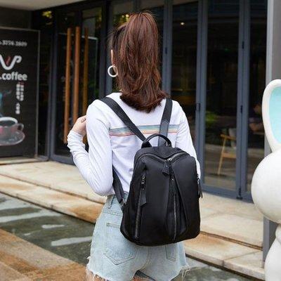 全館免運 尼龍包 雙肩包女新款大容量牛津布學院風背包學生百搭尼龍女包包潮