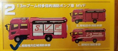 Japan's Working Cars Kit Fire Engine Part.2日本消防車 1/150 N 2A 相馬多目的消防車 1 架