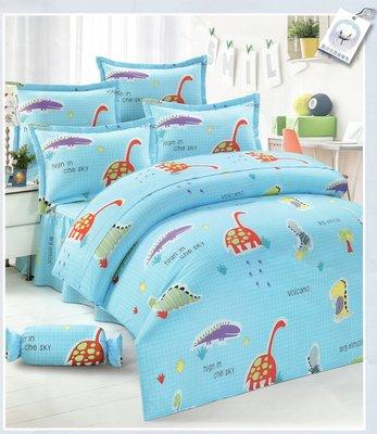 兩用被床包組四件式-特大雙人-動物玩國-台灣製精梳棉 Homian 賀眠寢飾