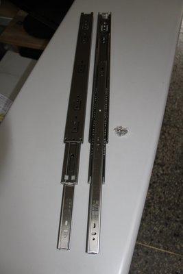[便宜五金] (45公分) 特厚304# 不鏽鋼滑軌 三截式鋼珠滑軌 (全拉出)不鏽鋼抽屜滑軌 快拆式  抽屜鉸鍊