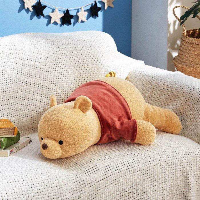 迪士尼Disney《預購》 趴趴維尼可愛抱枕 靠枕~日本正品~心心小舖