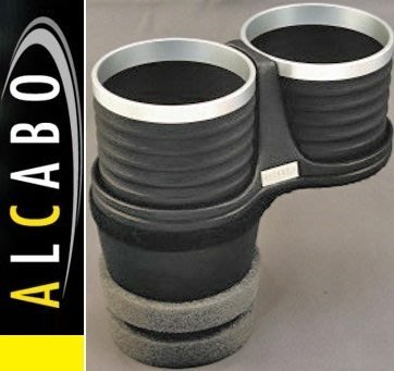 【JP.com】日本原裝 空運預購 ALCABO BMW F07/F10/F11專用置杯架 (黑色+銀框)