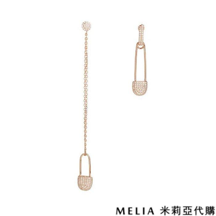 Melia 米莉亞代購 商城特價 數量有限 每日更新 19ss APM MONACO 飾品 不對稱耳環 玫瑰金鑲晶鑽別針