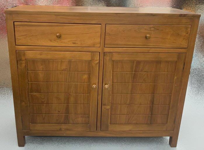 【台中二手家具】 樂居二手家具 家電買賣 A723801*庫存柚木餐櫃*書桌 寫字桌 辦公桌 工作桌 鐵桌 桌椅