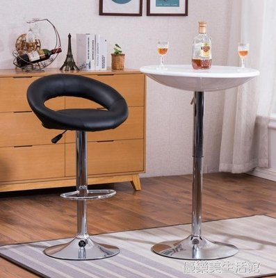 【蘑菇小隊】簡約圓吧台桌子洽談桌酒吧桌高腳升降圓形桌創意桌雞尾酒桌吧台椅 YDL-MG74034