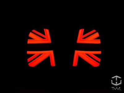 《※台灣之光※》全新MINI COOPER S F55 F57 15 16 17年英國國旗款LED光柱燻黑後燈尾燈組