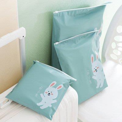 海馬寶寶 (大號)卡通夾鏈收納袋 防水密封袋 旅行分裝整理袋 防水夾鏈袋