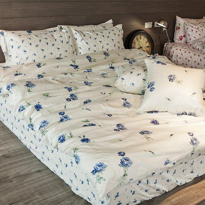 床包兩用被組 / 雙人加大【在巴黎遇見-玫果雪酪-兩色可選】100%精梳棉,冬夏鋪棉兩用被套,戀家小舖