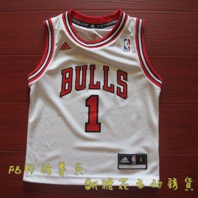 美國NBA 官網正品 adidas 兒童 青年球衣 德瑞克·羅斯 Derrick Rose 喬登 Jordan 公牛隊