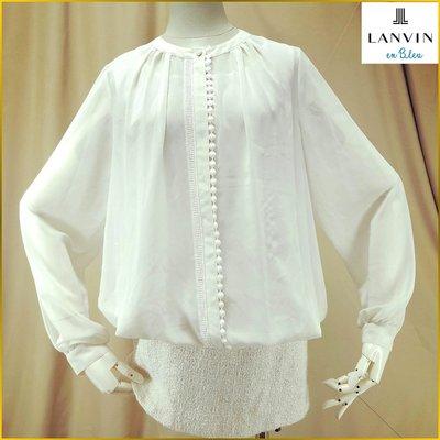 法國 LANVIN 日本製 近新品 長袖連身裙 LANVIN 正規 日本生產線 精品女裝 38号 A2356L