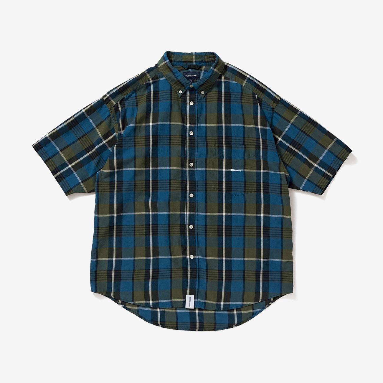 DESCENDANT DCDT HYANNIS B.D SS SHIRT FULL SIZE 格紋短袖襯衫。太陽選物社