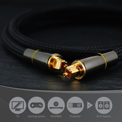 FC商行 ~ 線長 2米 數位光纖音源線 SPDIF輸出線 5.1聲道功放音響光纖連接線 L2308 屏東縣