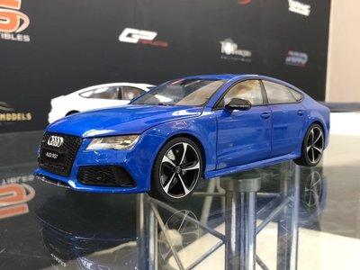 #現貨 JS model kengfai 1:18奧迪RS7 合金全開汽車模型 audi RS7 超跑-SGC5886