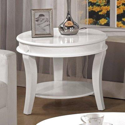【優比傢俱生活館】18 美麗購-迪諾白色2尺圓形小茶几/圓几 CM247-4