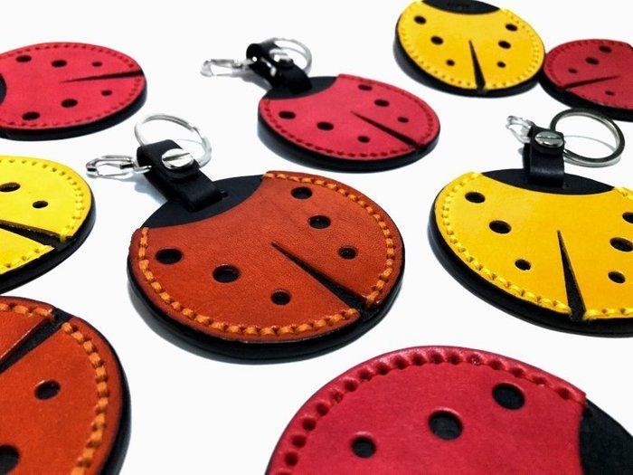 【IAN X EL】gogoro植鞣革瓢蟲鑰匙圈 / 門卡包 / 感應器收納 提供免費印字 純手工皮件