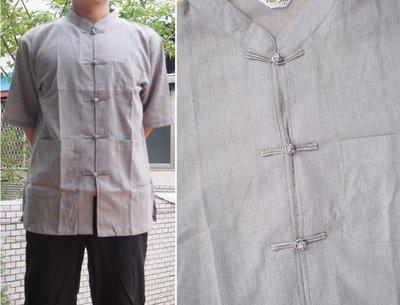 Tai Jin MIT 夏日烈陽最佳涼爽服飾 台灣製造工廠直營 汗衫 棉衫  灰短袖唐裝