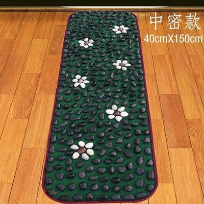 天然黑雨花石鵝卵石足底按摩墊/石子路/腳底石頭墊穴位走毯指壓板WD