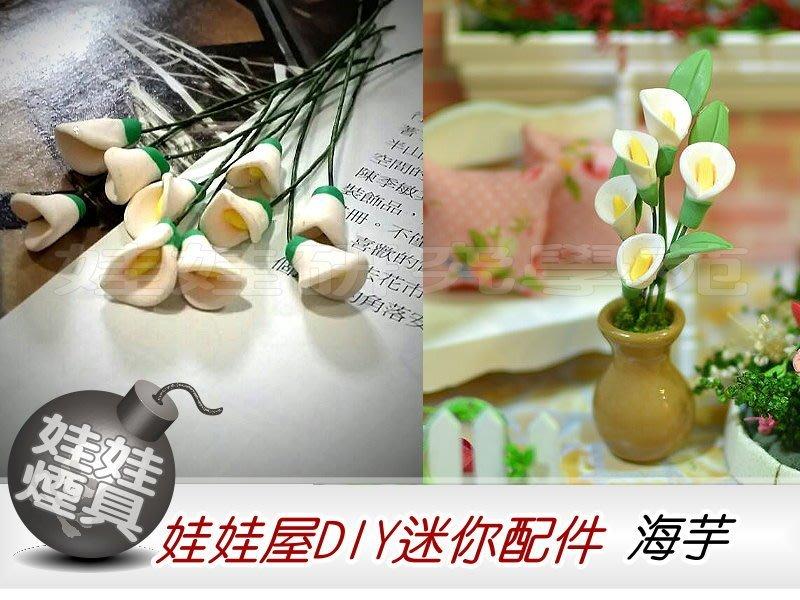 ㊣娃娃研究學苑㊣ 創意DIY 娃娃屋DIY迷你配件 海芋  單售價(DIY41)