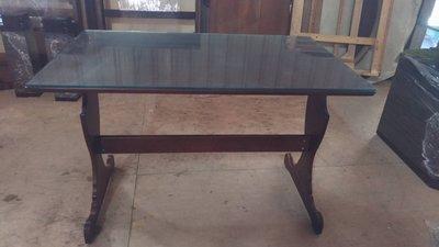 【尚典中古家具】柚木色實木典雅餐桌 中古餐桌 二手餐桌
