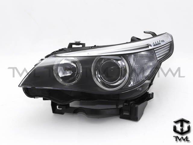 《※台灣之光※》全新BMW E60 E61 04 05 06年大五原廠型HID專用黑底光圈魚眼投射大燈頭燈白色反光片