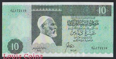 【Louis Coins】B620-LIBYA--1989利比亞紙幣10 Dinars