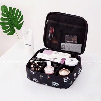 ~四格化妝箱~韓系旅行收納包 化妝包 盥洗包 整理包 收納袋 化妝品彩妝用具保養品新秘彩妝師 隔板可拆卸~意樂鋪