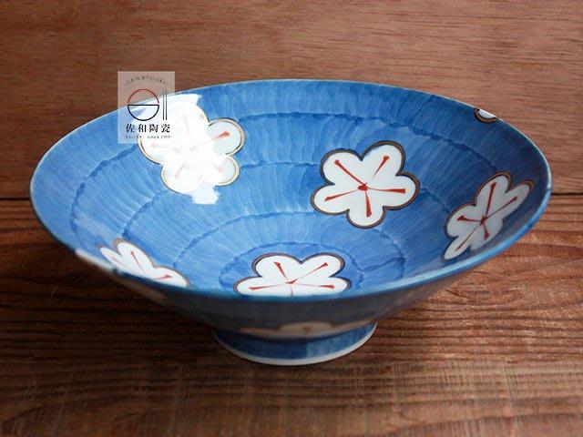 +佐和陶瓷餐具批發+【XL070921-2手繪濃梅7井-日本製】日本製 碗 缽 輕量碗 和食器 丼飯碗 擺盤