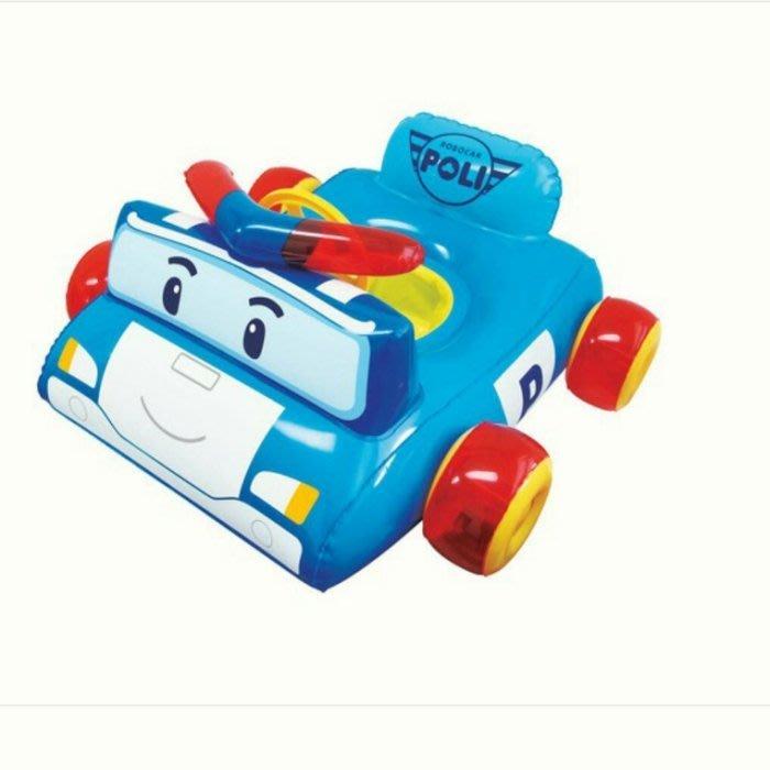 韓國代購 poli 波力 安寶 救援小英雄 警車立體造型 兒童 幼兒 坐式 遊泳圈 學步泳圈