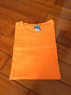 台灣製 棉T 素色 潮流 設計 T恤 潮TEE 橘色 特價優惠