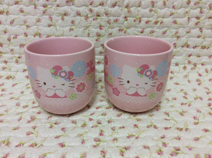 Sanrio hello kitty 日式和風茶杯組—2入《2015年商品》收藏特價出清