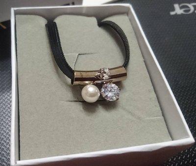 LUCY正品(現貨)~鑽+珍珠可愛性感頸鍊