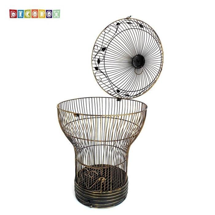 DecoBox燈泡青銅大花架(鳥籠,燈泡花架,園藝,花台,花插,鍛鐵展示架)