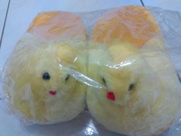 全新黃色小雞拖鞋