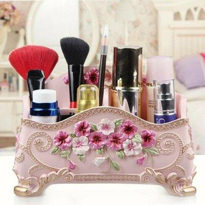 【智美精品屋】浪漫莊園 宮廷風化妝盒 桌面收納盒  華麗歐風 彩妝梳妝台整理盒