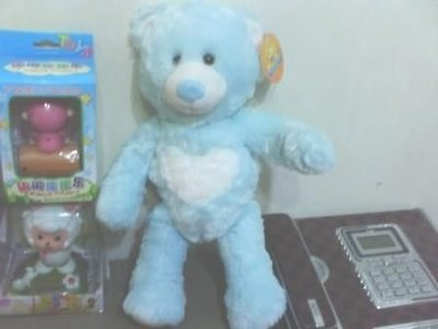 全新藍熊(中間有白心)(高約40公分)