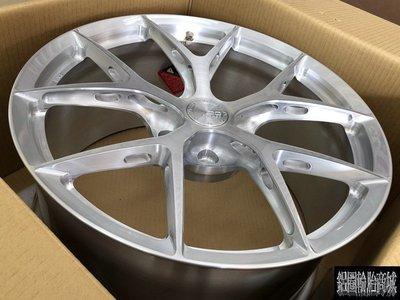 全新 20吋 BC KLS 01 Wheels 單片鍛造鋁圈客製化 銀刷絲 各車規格訂製 另有 19吋 21吋 22吋