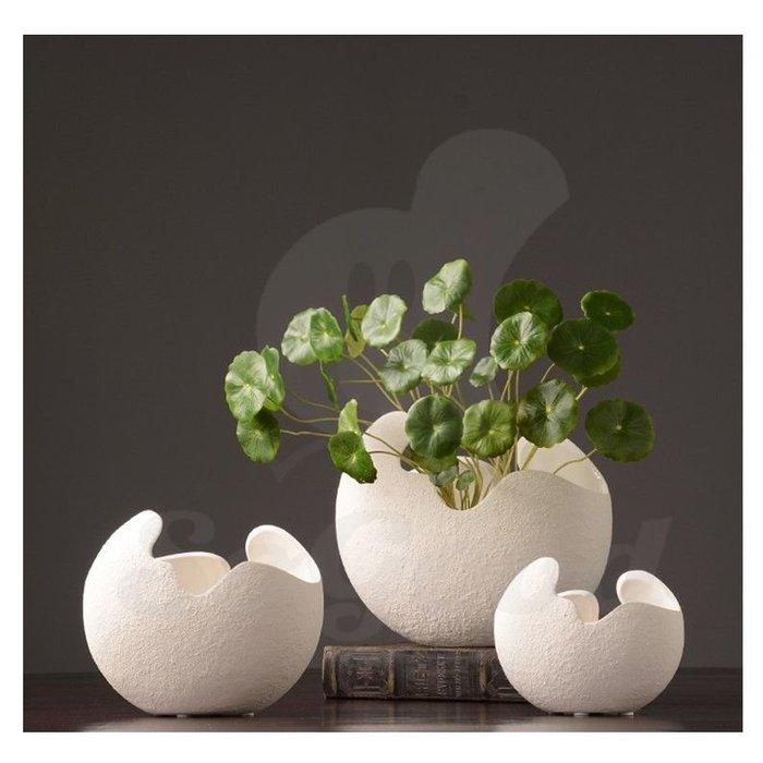 北歐家居陶瓷花瓶 現代簡約創意插花瓶裝飾品(大號)_☆[好裝飾_SoGoods優購好]☆