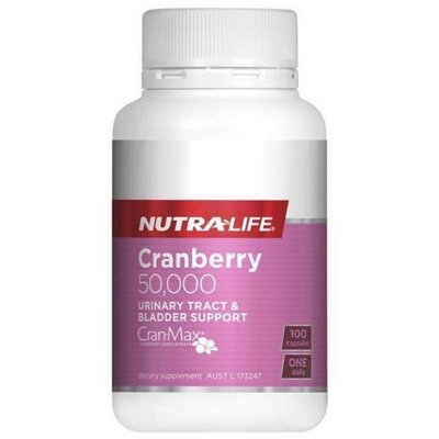 紐西蘭 紐樂 蔓越莓 50,000mg 100粒 Nutra Life 正品