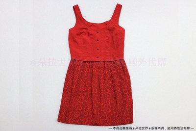 [SC-128] COOPERATIVE 美國品牌 兩件式無袖洋裝 紅色愛心圖案 XS號