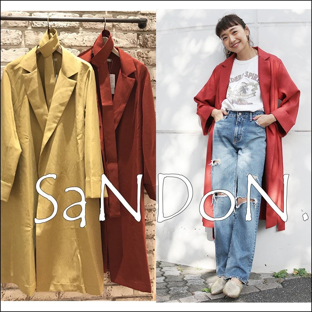 SaNDoN x『UNGRID』2018早春新品 官網限定主打款綁帶復古風衣 SLY 180305